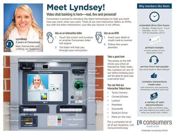 How to use a Consumers Credit Union Interactive Teller