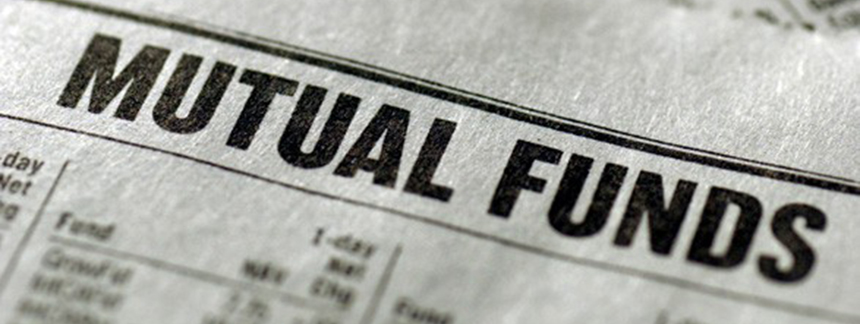 Close-up of a paper of mutual funds