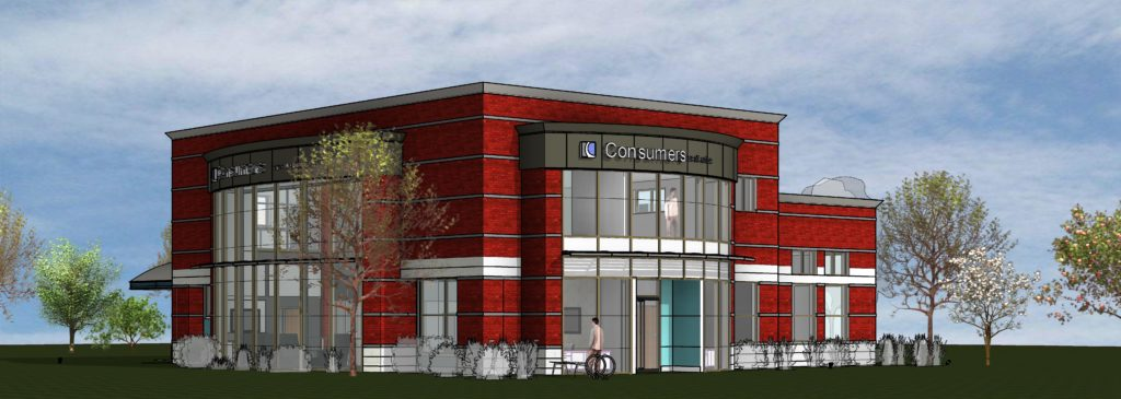 Rendering of Consumers Credit Union's 54th Street office