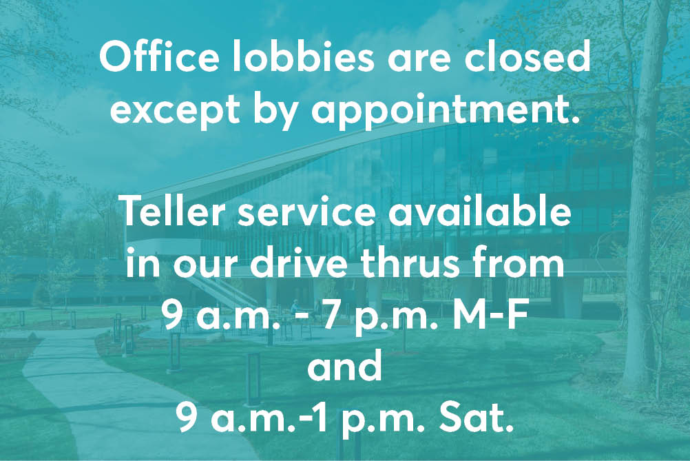 Office lobbies are closed except by appointment