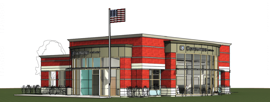 Rendering of new Grand Haven office
